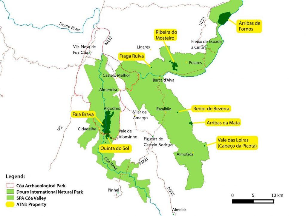 Overzicht van het beschermde natuurgebied van ATN