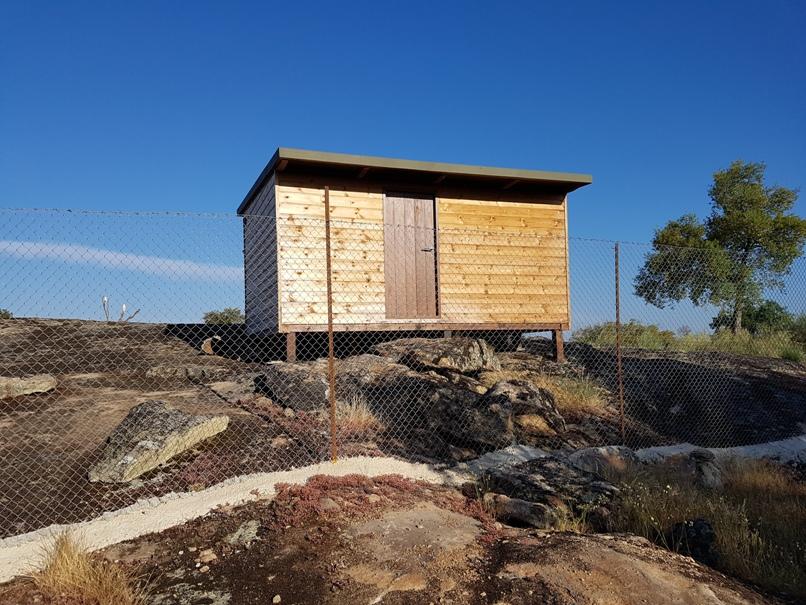 de nieuwe hide in Faia Brava 20180522